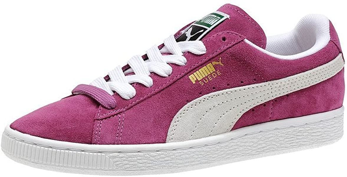 Womens Puma Suede Classic Trainers (UK 5, Grey Violet Pink