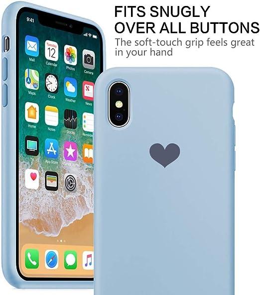 Qissy Cover iPhone X, Custodia iPhone 10 Caso Silicone TPU Ultra Sottile Anti-Graffio Custodia Morbida Copertura Protettiva Cover Case per Apple ...