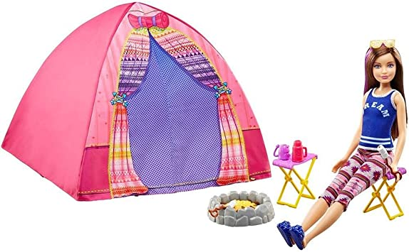 Barbie Sisters Camping Skipper And Tent including Doll