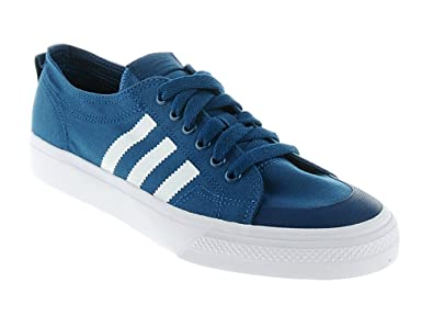 white adidas nizza trainers kids