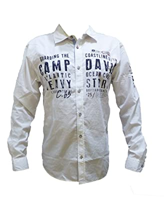 Camp David Herren Hemden Regular Fit Freizeithemd mit
