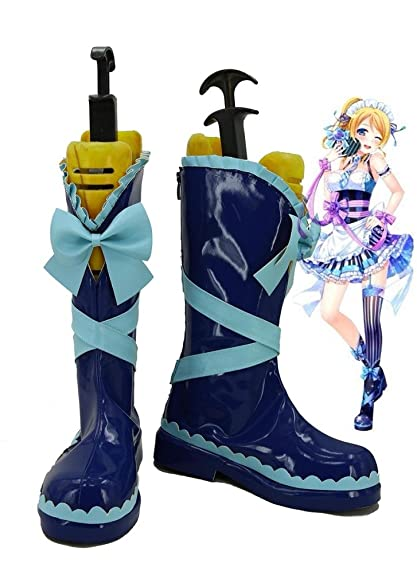 LoveLive! Love Live Happy Valentine's Day Maid Live! Ayase Eli Cosplay Shoes Boots Custom Made
