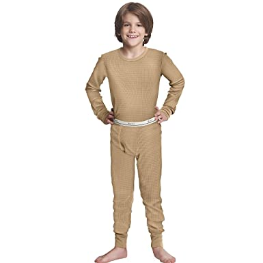 Amazon.com: Hanes Boys Thermal X-Temp Underwear Set: Boys Long ...