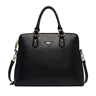 Amazon.com: Cluci Women's Cow Leather Handbags Briefcase Purse ...
