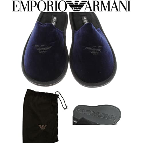 it E Armani Medium Scarpe Emporio Nero Pantofole Uomo Amazon wYxgqR