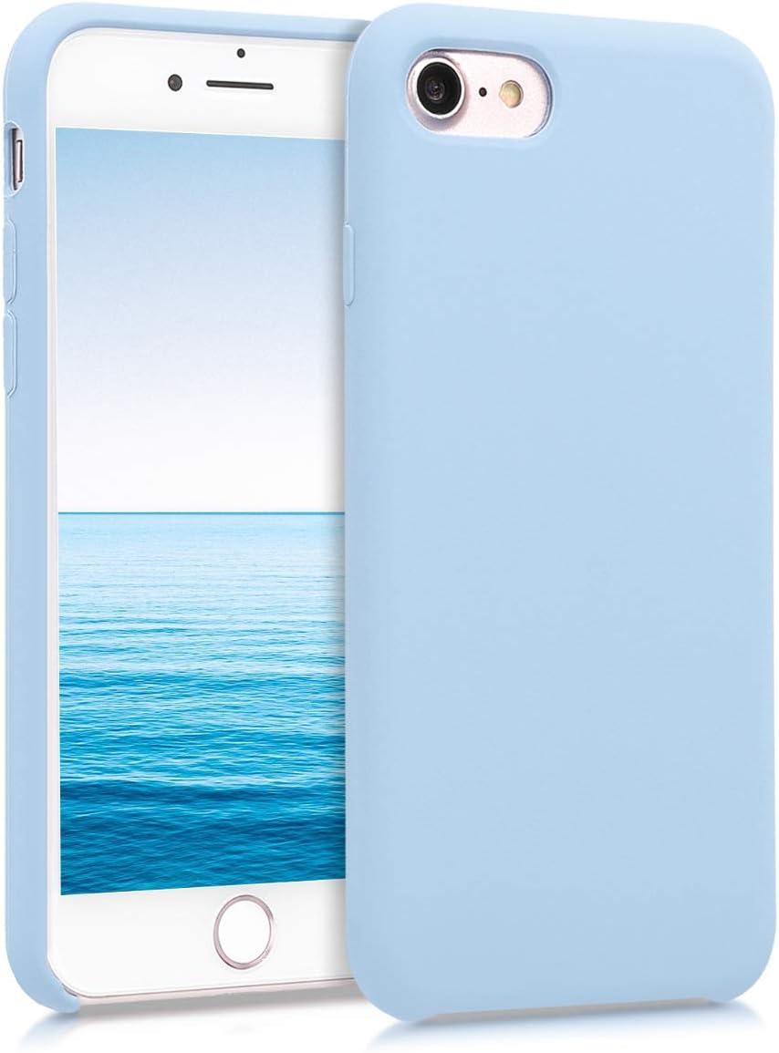 kwmobile Cover Compatibile con Apple iPhone 7/8 / SE (2020) - Cover Custodia in Silicone TPU - Back Case Protezione Cellulare Celeste Pastello