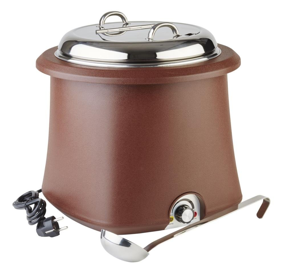 Electric soup warmer 38 cm, H: 36,5 cm, 10 ltr.