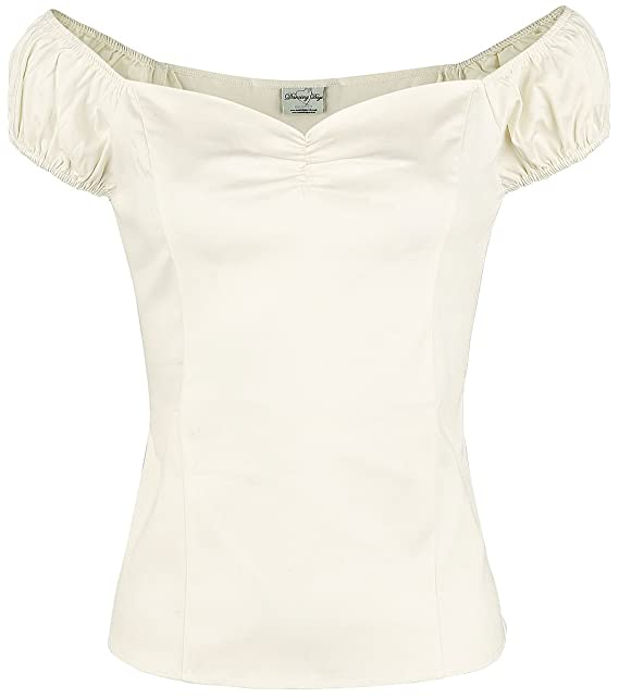 Banned Winnie Top Camiseta Mujer Blanco PyViLN