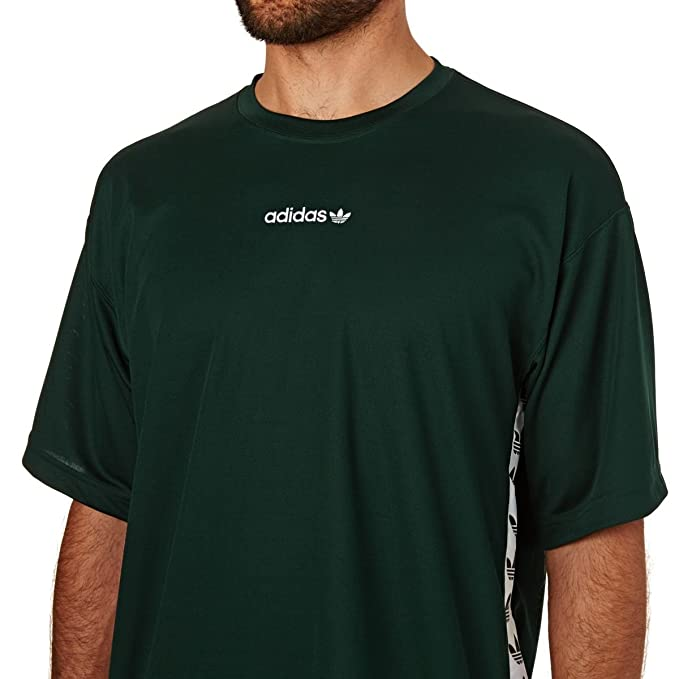 adidas Men's TNT Tape T Shirt, GreenVernocBlanco, X Small