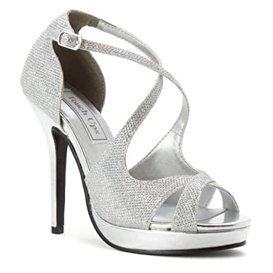 Womens Touch Ups Dana Pumps Shimmer Silver