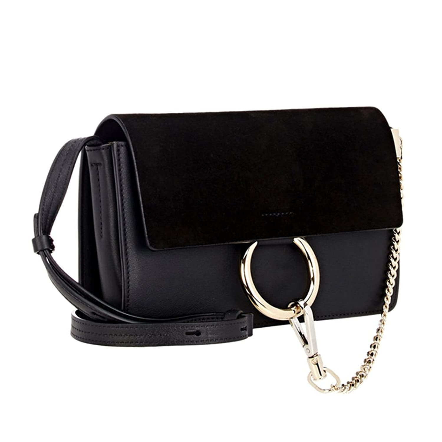 Actlure Genuine Leather Crossbody Shoulder Bag Purse Chain link ...
