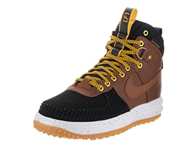 100 quality materials Nike Lunar Force 1 Duckboot 805899002 Black WhiteGum Light BrownTeam Red Nike Mens 2015