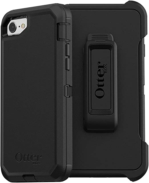 OtterBox Defender Series Coque pour iPhone SE (2ème génération – 2020) et iPhone 8/7 (pas plus) – Emballage sans frustration – Noir