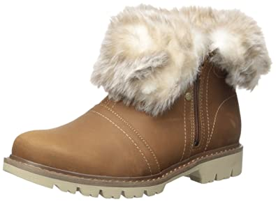 Women's Flurry Waterproof Pull On Cold Weather Faux Fur Collar Ankle Boot