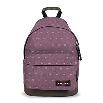 Sac à dos Eastpak Wyoming fond cuir Leaves Merlot rouge ZQcJi3
