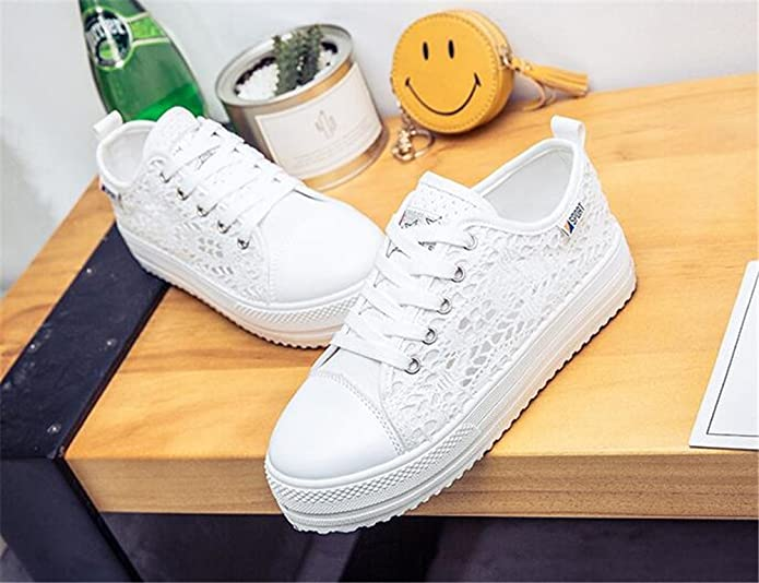 Gusha Lace Face Mesh Chaussures Femme avec Chaussures