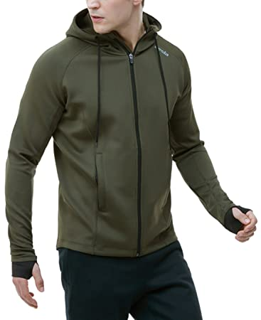 Amazon.com: Tesla Men's Performance Long sleeve Training Full-zip ...