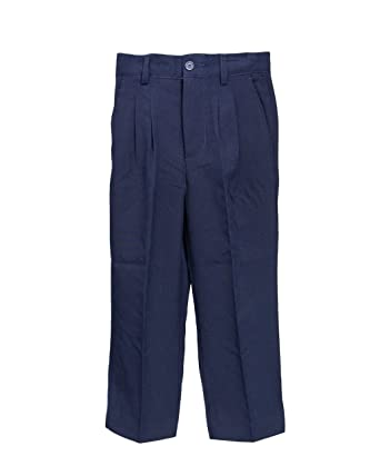 Amazon.com: Boys Navy Blue Long Dress Pants with Back Pocket: Boys ...