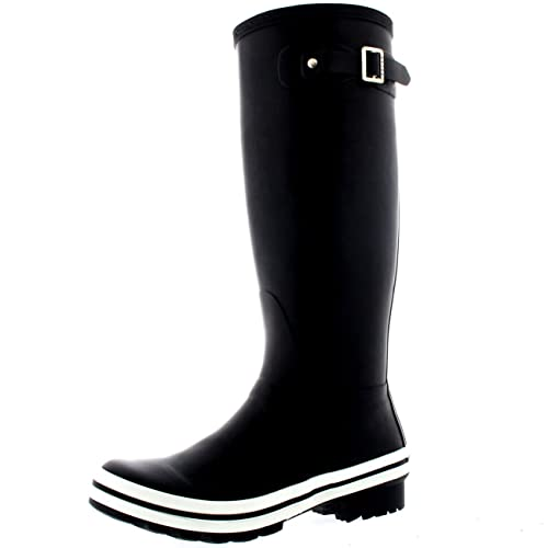Amazon.com | Polar Womens Tall Wellingtons Waterproof Rubber Yard Snow  Galoshes Rain Boots | Rain Footwear