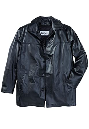 Kingsize Men's Big & Tall Updated Leather Car Coat at Amazon Men's ...
