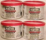 Rumford Reduced Sodium Baking Powder, 4 Oz Can (4 Pack)