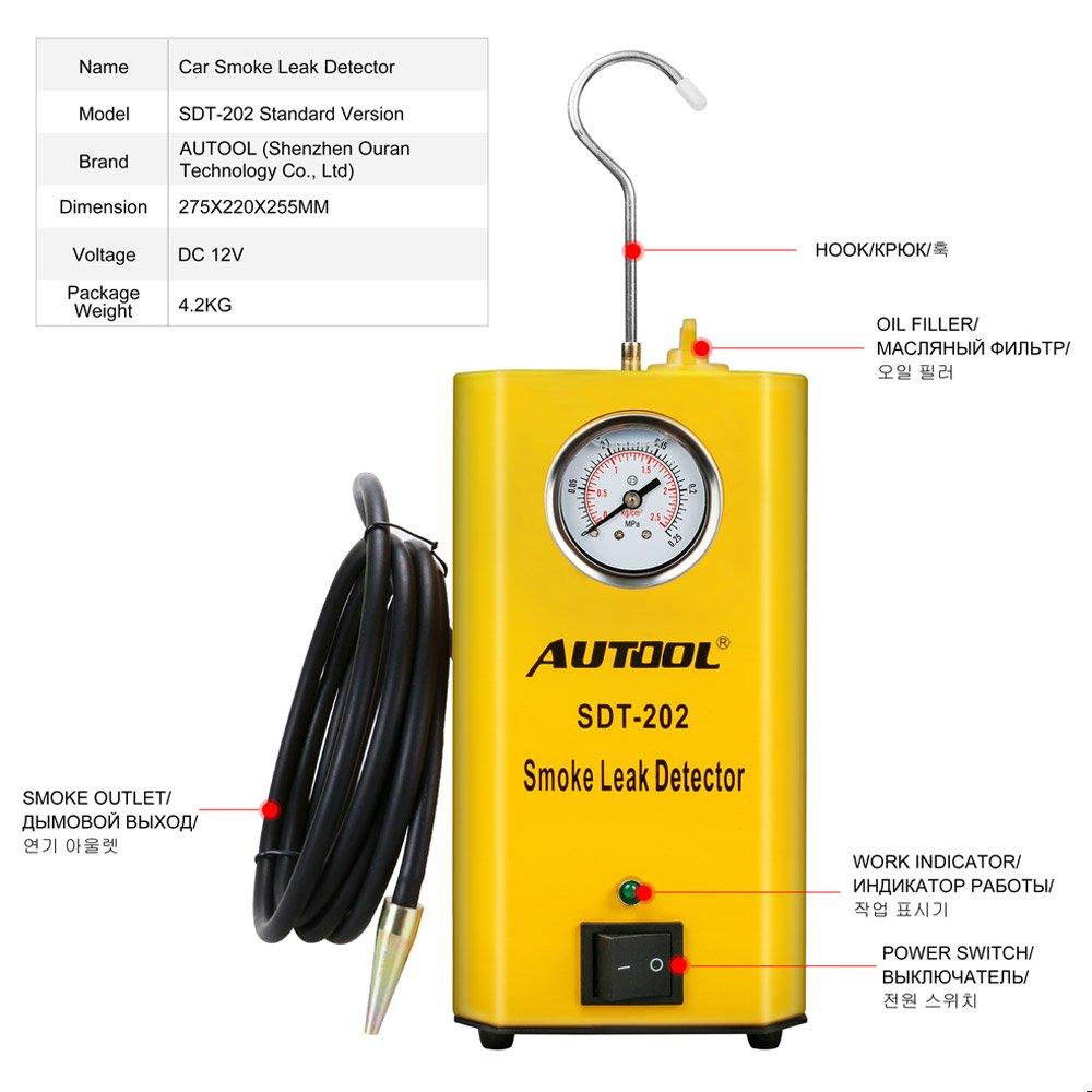 Autool 12V Automotive EVAP Tester Detectors Cars Pipe Leak Detector SDT-202 Car PIPE Leakage Detector Tester For All Vehicles Leak Tester Detector Machine by AUTOOL (Image #2)
