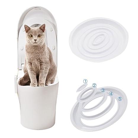 Zanteca - Kit de inodoro para gatos (plástico)
