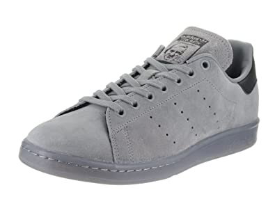 best loved ad36f 44075 Amazon.com | adidas Men's Stan Smith Charcoal Grey Ankle ...