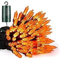 Joomer Oranje Halloween Lichtslingers, 10M 100 LED Batterij Aangedreven Oranje Lichten Waterdicht met 8 Standen…