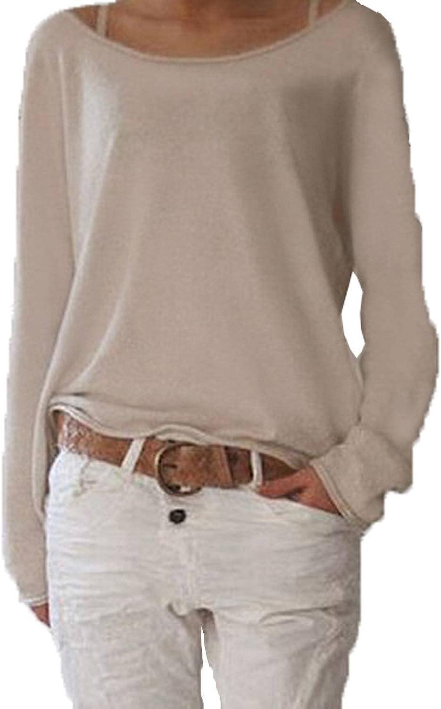 ZANZEA Damen Long Arm Hemd Hemden Gestreift Kragen Casual Shirts T-Shirts Bluse