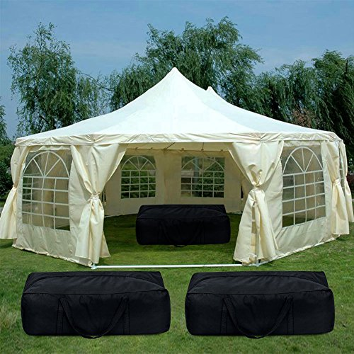 Quictent 21  x 29  Heavy Duty Outdoor Decagonal Gazebo Party Wedding Tent  Canopy with f6e1a791c362