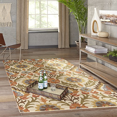 (Momeni Rugs TANGITAN-9GLD3656 Tangier Collection, 100% Wool Hand Tufted Tip Sheared Transitional Area Rug, 3'6