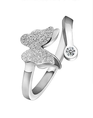 925 Silber Ringe Zirkonia Modeschmuck für Frauen Charmant Ringe Ringegröße justierbar
