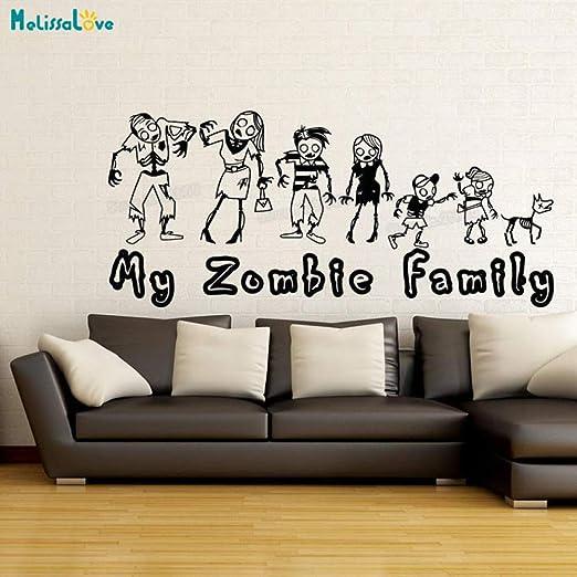 zhuziji Diseño Popular Tatuajes de Pared Amor Zombie Familia ...