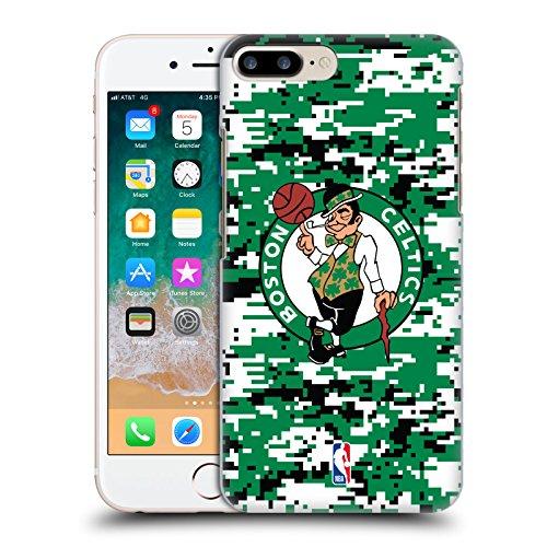 Official NBA Digital Camouflage Boston Celtics Hard Back Case for Apple iPhone 7 Plus / 8 Plus (Boston Celtics Snap)