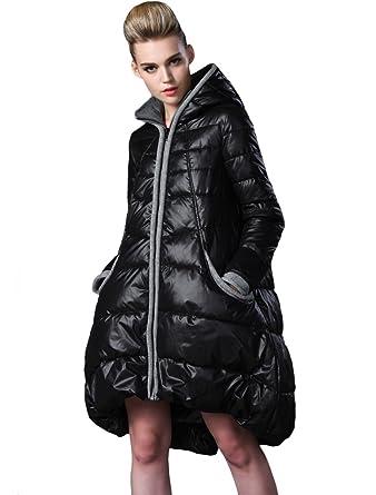 premium selection 246ce 6a20a Vogstyle Damen Winter Warm Jacke Mantel mit Kapuze Winterjacke Gefütterter  Parka Lang