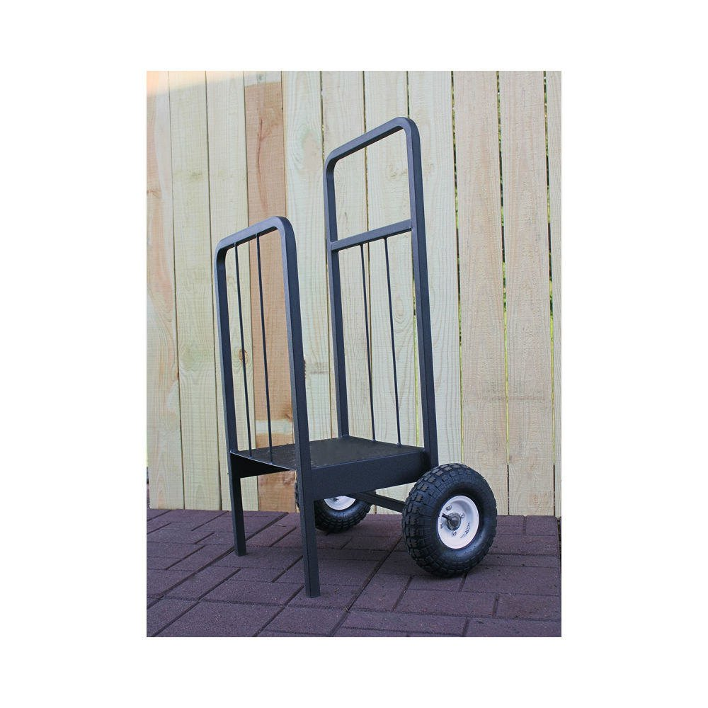 QBC Bundled Woodhaven Firewood Rack - WRPELCARTWH - Pellet or Firewood Cart - Black - (44in x 18in x 15in) - Plus Free QBC Firewood Rack eGuide