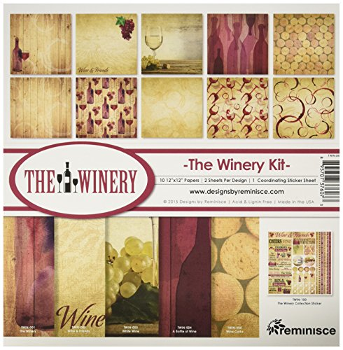 Reminisce TWIN-200 Winery Collection Kit, 12'' by 12'', Multicolor by Reminisce