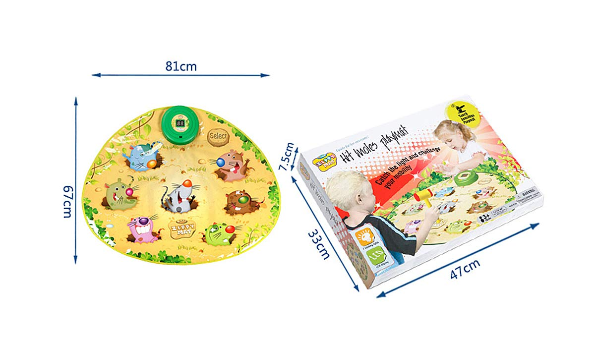 Playing Hamster Game Blanket, Kids Electronic Music Play Mat Security Electronic Keyboard Play Blanket Ideal Toys and Gifts for Children by Eustoma (Image #3)