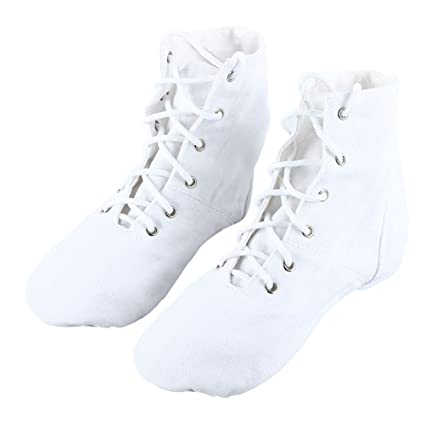 add854da1e89 Image Unavailable. Image not available for. Color  WINOMO Girls Canvas Lace  up Jazz Boot Shoes High Tops ...