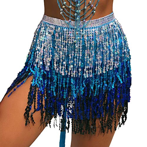 Crystal Belly Dance Costumes - MUNAFIE Women's Belly Dance Hip Scarf
