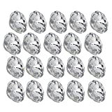 BQLZR 22mm Dia Clear Crystal Diamante Round Buttons Tufting Sofa Upholstery Headboard Pack of 20