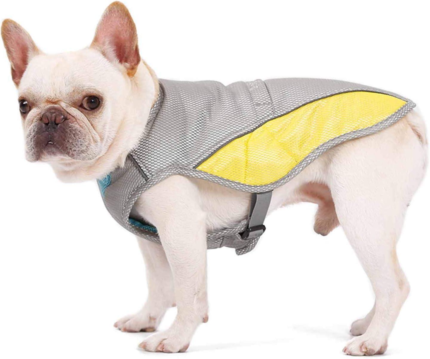 NINOMI Chaqueta de Chaleco frío para Perro Traje de enfriamiento de Golpe de Calor para Mascotas Transpirable de Verano Chaqueta de Ropa para Mascotas,L