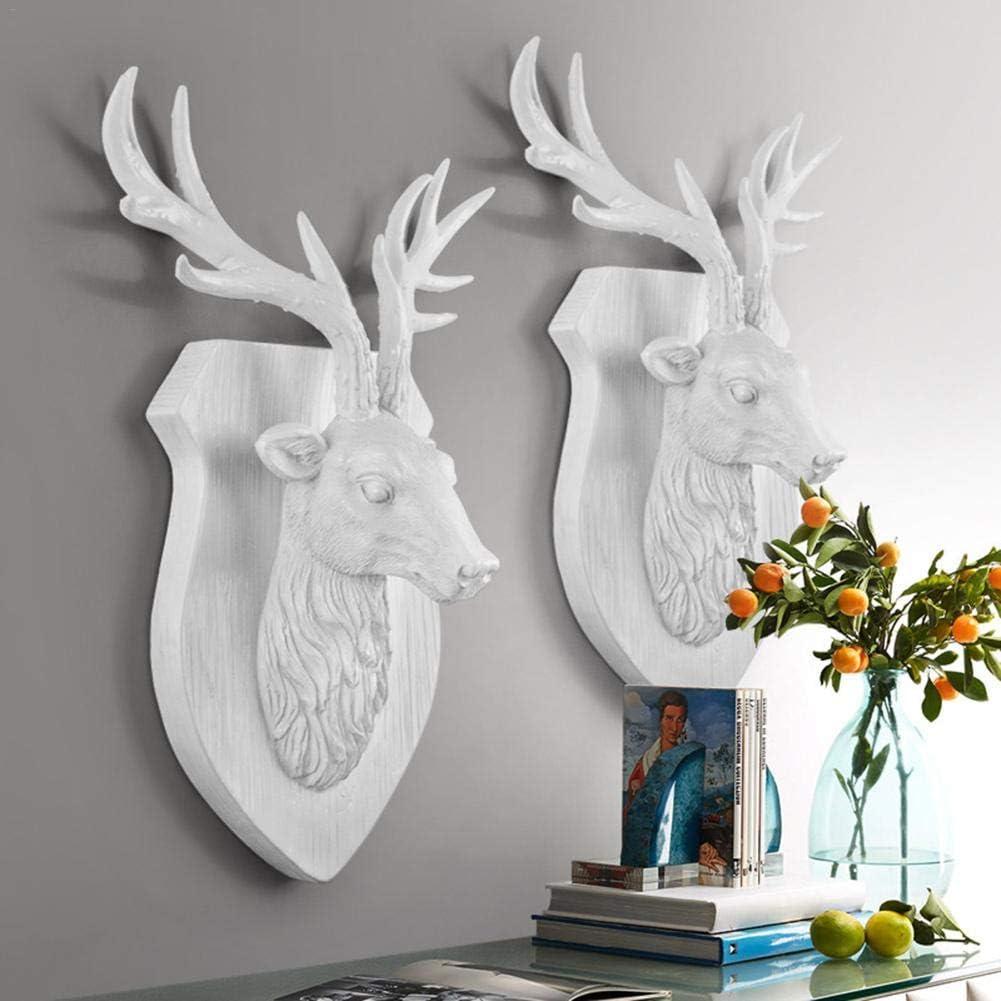 Three-Dimensional Animal Head Deer Head Resin Craft Wall Hanging European Innovative Wall Hanging for Living Room Wall Decoration
