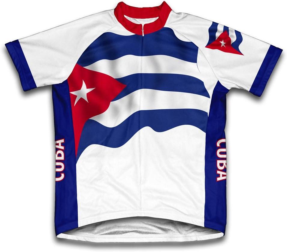 Cuba Bandera Maillot de Ciclismo Manga Corta para Hombre - Talla M: Amazon.es: Deportes y aire libre
