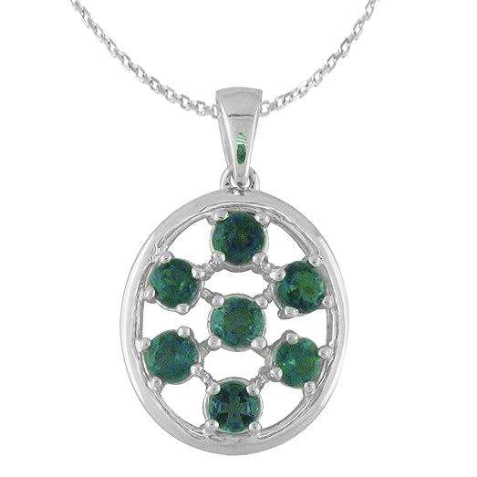 Amazon natural color change alexandrite pendant necklace in 14 natural color change alexandrite pendant necklace in 14 white gold aloadofball Images