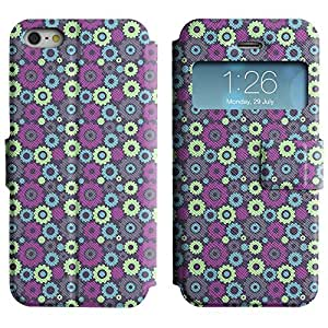 Be-Star Diseño Impreso Colorido Slim Casa Carcasa Funda Case PU Cuero - Stand Function para Apple iPhone 5 / 5S ( Cute Screws )