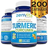 Turmeric Curcumin 200 Capsules w/Bioperine & 95% Curcuminoids, 1300 mg, Non-GMO & Gluten Free, 100% Natural Premium Extract, Powerful Joint Support, Inflammation & Pain Relief Supplement Review