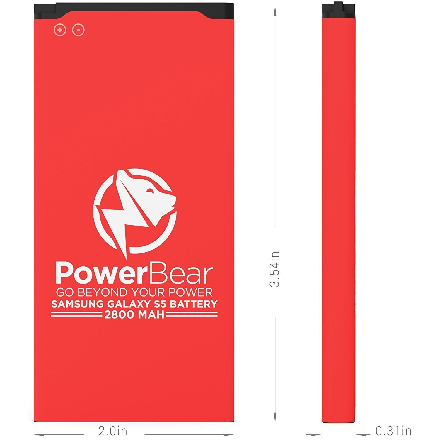 PowerBear Samsung Galaxy S5 Battery (2,800 mAh) UPGRADED Spare Battery for the Galaxy S5 [I9600, G900F, G900V (Verizon), G900T (T-Mobile), G900A (AT&T)] Replacement Battery [24 Month Warranty] by PowerBear (Image #5)