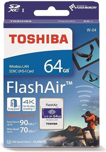 Toshiba FlashAir W-04 64 GB SDXC Class 10 WiFi Enabled SD Memory Card